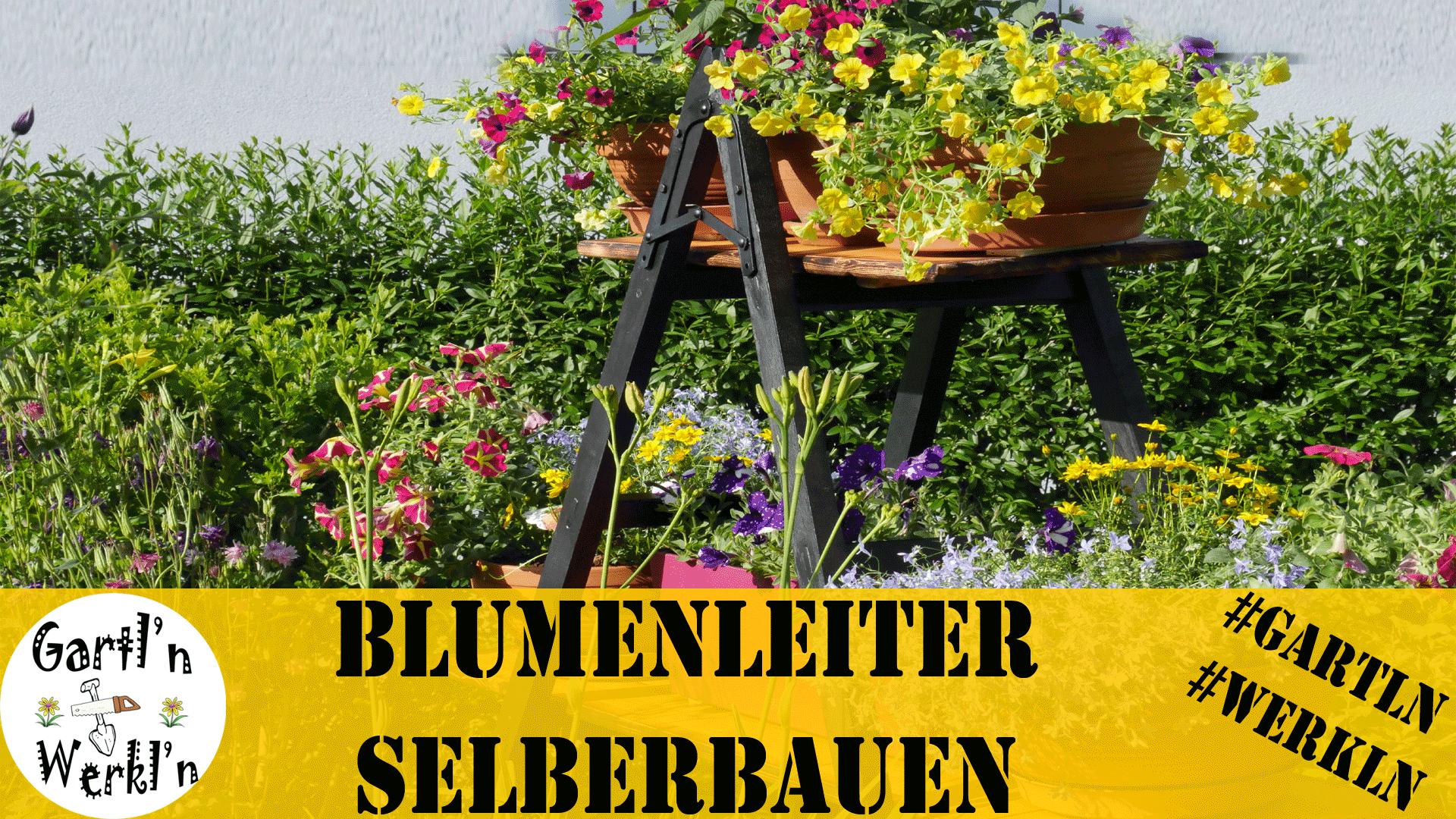 Upcycling einer alten Holzleiter zur Blumenleiter